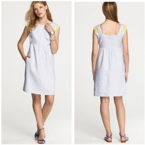 "J. Crew ""Siesta"" Dress Fit & Flared Linen Dress 4"